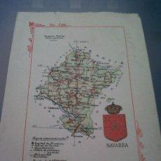 Mapas contemporáneos: ANTIGUO MAPA ESCUDO NAVARRA ALBERTO MARTIN EDITOR. Lote 31878669