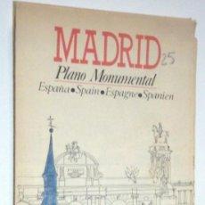Mapas contemporáneos: MADRID-PLANO MONUMENTAL-AÑO 1986. Lote 31889786