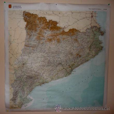 Mapa Topografic De Catalunya.Mapa Topografic De Catalunya 1 250 000 Generalitat De Catalunya 1982