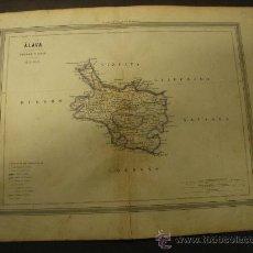 Mapas contemporáneos: MAPA DE ALAVA DE 1864, DE GASPAR Y ROIG.. Lote 32026555