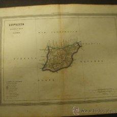 Mapas contemporáneos: MAPA DE GUIPUZCOA EDITADO POR GASPAR Y ROIG EN 1864.. Lote 32026623