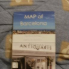 Mapas contemporáneos: MAP OF BARCELONA MAPA DE BARCELONA EN INGLES --REFM4E3. Lote 32050322