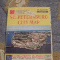 Mapas contemporáneos: SAINT PETERSBURG CITY MAP. Lote 32050418
