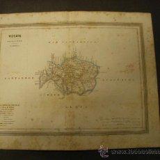 Mapas contemporáneos: MAPA DE VIZCAYA EDITADO POR GASPAR Y ROIG EN 1864.. Lote 32075142