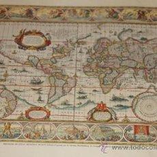Mapas contemporáneos: MAPA DEL MUNDO - REPRODUCCION DEL ATLAS MUNDIAL BLAEW. Lote 32095801