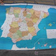 Mapas contemporáneos: MAPA DE COLEGIO ESPAÑA, FISICO Y POLITICO. EDIGOL 1976. Lote 32511169