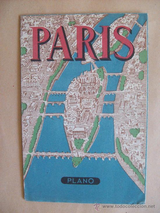 PLANO DE PARIS - MAP, MINISTÉRE DES TRAVAUX PUBLICS ES DES TRANSPORTS. METRO, ESPAÑOL (Coleccionismo - Mapas - Mapas actuales (desde siglo XIX))