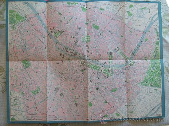 Mapas contemporáneos: PLANO DE PARIS - MAP, MINISTÉRE DES TRAVAUX PUBLICS ES DES TRANSPORTS. METRO, ESPAÑOL - Foto 2 - 32576069
