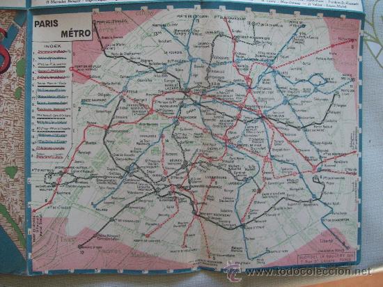 Mapas contemporáneos: PLANO DE PARIS - MAP, MINISTÉRE DES TRAVAUX PUBLICS ES DES TRANSPORTS. METRO, ESPAÑOL - Foto 3 - 32576069