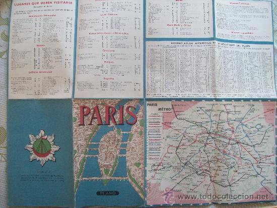Mapas contemporáneos: PLANO DE PARIS - MAP, MINISTÉRE DES TRAVAUX PUBLICS ES DES TRANSPORTS. METRO, ESPAÑOL - Foto 4 - 32576069