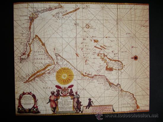 1675-MAPA DE INDIA.JOHN SELLER.REPRODUCCIÓN (Coleccionismo - Mapas - Mapas actuales (desde siglo XIX))