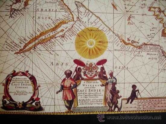 Mapas contemporáneos: 1675-MAPA DE INDIA.JOHN SELLER.REPRODUCCIÓN - Foto 2 - 32657115