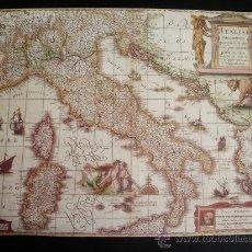 Mapas contemporáneos: 1631-MAPA DE ITALIA.HENRICUS HONDIUS.REPRODUCCIÓN. Lote 32657508