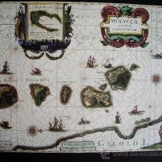 Mapas contemporáneos: 1630-MAPA DE LAS ISLAS MOLUCAS.WILLEM BLAEU.REPRODUCCIÓN. Lote 32657530