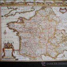 Mapas contemporáneos: 1627-MAPA DE FRANCIA.JOHN SPEED.REPRODUCCIÓN. Lote 32657621