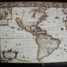 Mapas contemporáneos: 1627-MAPA DE AMÉRICA.JOHN SPEED.REPRODUCCIÓN. Lote 32657657