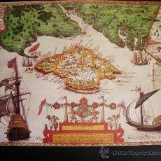 Mapas contemporáneos: 1591-MAPA DE LA ISLA DE WIGHT.INGLATERRA.BAPTISTA BOAZIO.REPRODUCCIÓN. Lote 32657832