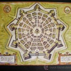Mapas contemporáneos: 1589-MAPA DE PALMANUOVA.COLONIA.ALEMANIA.GEORG BRAUN Y FRANS HOGENBERG.REPRODUCCIÓN. Lote 32657866