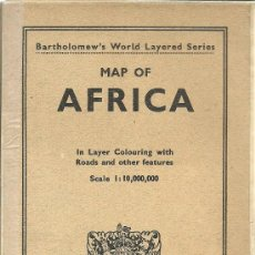 Mapas contemporáneos: MAPA DE ÁFRICA – 1949 MAP OF AFRICA IN LAYER COLOURING WITH ROADS AND OTHER FEATURES - 1949. Lote 32727593
