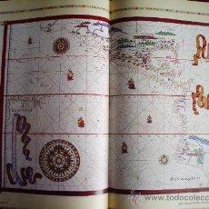 Mapas contemporáneos: 1587-MAPA DE AMÉRICA.LITORAL PACÍFICO. JUAN MARTÍNEZ. GRANDE.RÉPLICA MODERNA. Lote 32667777