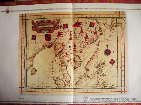 1571-MAPA DE EXTREMO ORIENTE Y MOLUCAS.FERNANDO VAZ DOURADO. GRANDE.RÉPLICA MODERNA (Coleccionismo - Mapas - Mapas actuales (desde siglo XIX))