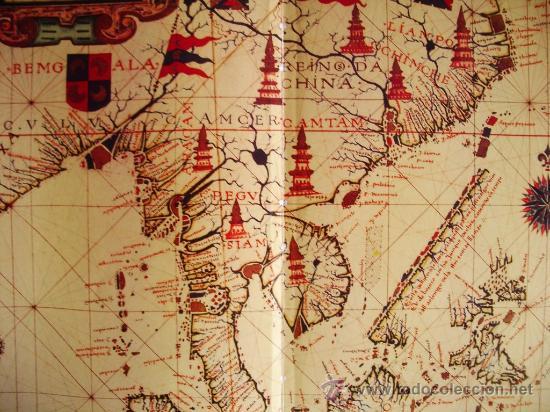 Mapas contemporáneos: 1571-MAPA DE EXTREMO ORIENTE Y MOLUCAS.FERNANDO VAZ DOURADO. GRANDE.RÉPLICA MODERNA - Foto 2 - 32668096