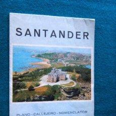 Mapas contemporáneos: SANTANDER - PLANO CIUDAD 32 X 95 CM. - J.L. PEREZ SOROA -CALLEJERO - CANTABRIA - 1982 - 2ª EDICION . Lote 32802092