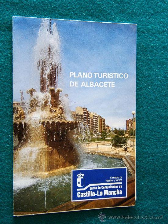 plano turistico de albacete 44 x 43 cm mapa de  Comprar Mapas