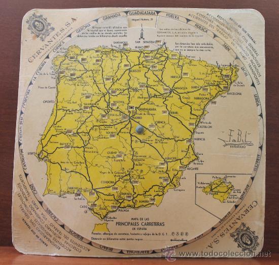 Antiguo Mapa De Carreteras De Espana Para Calcu Venduto In