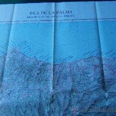 Mapas contemporâneos: ISLA DE LA PALMA - PROVINCIA DE SANTA CRUZ DE TENERIFE - 122 X 75 CM. - ISLAS CANARIAS - 1981. Lote 33046225