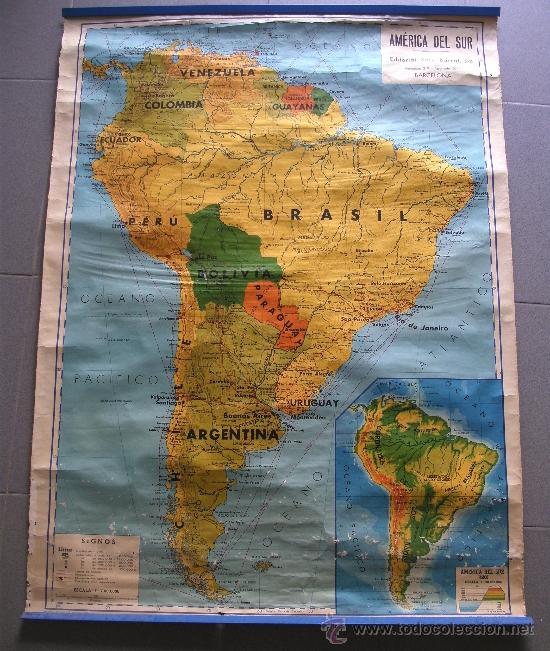 mapa escolar america del sur, seix barral, 1969 - Comprar Mapas ...