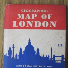 Mapas contemporáneos: MAPA – PLANO LONDRES .. MAP OF LONDON. Lote 33125341