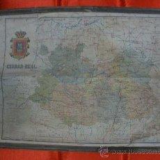 Mapas contemporáneos: ANTIGUO MAPA ENTELADO DE CIUDAD REAL. ALBERTO MARTIN.EDITOR-BARCELONA.. Lote 33162639