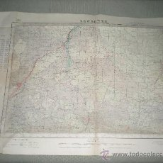 Mapas contemporáneos: ANTIGUO MAPA MILITAR DE ESPAÑA .LONGARES .COMARCA CARIÑENA . AÑO 1952. Lote 33246246