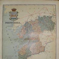 Mapas contemporáneos: MAPA DE PONTEVEDRA - BENITO CHIAS.- 1902.. Lote 33398690