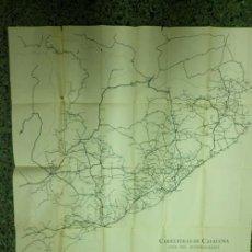 Mapas contemporáneos: RUTA. ITINERARIS - CAPS DE PARTITS JUDICIALS - MUNICIPIS - POBLATS LLUIS HERETER- 1936. Lote 33426887