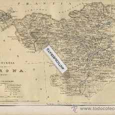 Mapas contemporáneos: MAPA ANTIGUO DE GERONA.GIRONA.AÑO 1882.CALDAS DE MALAVELLA.AMER.PERELADA.VILOPRIU.SETCASES.LLIVIA.. Lote 33448912