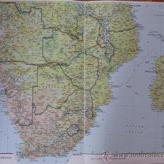 Mapas contemporáneos: PLANO DE ÁFRICA MERIDIONAL. Lote 33657625