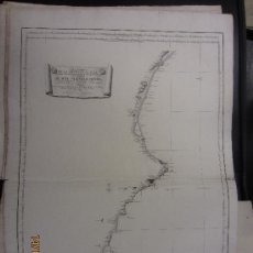 Mapas contemporáneos: CARTA NAUTICA DE CABO GATA HASTA CABO OROPESA TOFIÑO. Lote 34236943