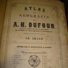 Mapas contemporáneos: ATLAS DE GEOGRAFÍA POR A.H.DUFOUR, FR.ARAGO, TURCIS JEUNE, PARIS, NEW YORK, 20 MAPAS. Lote 34323635