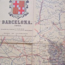 Mapas contemporáneos: BARCELONA PROVINCIA 1905 BENITO CHIAS *** MAPA PLEGADO SOBRE TELA . Lote 34602086