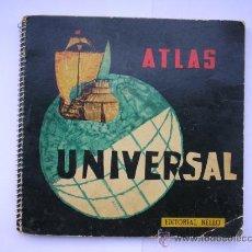 Mapas contemporáneos: ATLAS UNIVERSAL,EDITORIAL BELLO,BARCAS 5,VALENCIA,PRIMERA EDICION,JUNIO 1960,41 MAPAS. Lote 34631536