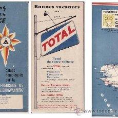 Mapas contemporáneos: ANTIGUO MAPA 1959 - CAMPINGS DE FRANCIA - HOMOLOGADO POR FEDERACION CAMPING Y CARAVANNING DE FRANCIA. Lote 34732931
