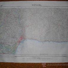 Mapas contemporáneos: 1917 MAPA DE MALAGA PRIMERA EDICION 1:50000. Lote 34822205