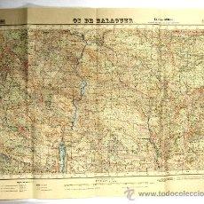 Mapas contemporáneos - 1953 MAPA DE OS DE BALAGUER - EDICION MILITAR - GRAN TAMAÑO - 34870839