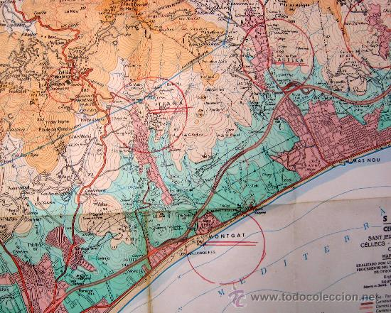 1983 Cercanias De Barcelona Mapa Topografico Comprar Mapas