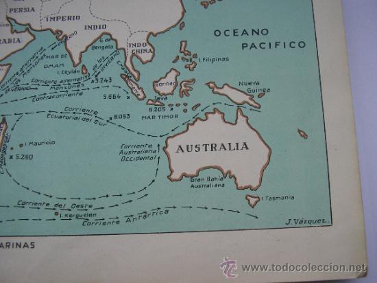 Mapas contemporáneos: ATLAS UNIVERSAL DE LOS AÑOS 50,CONTIENE 78 MAPAS INDIVIDUALES, DE J.VÁZQUEZ-DIBUJO JUAN D.HOYOS. - Foto 18 - 34975090