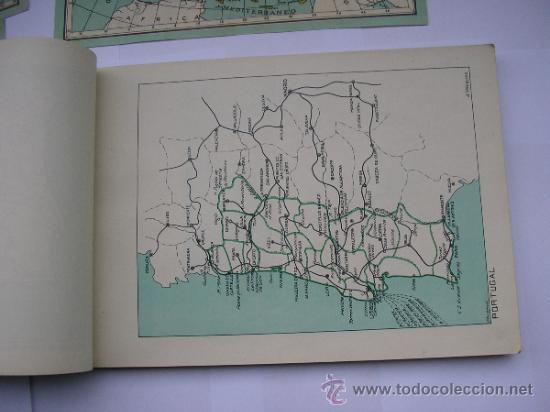 Mapas contemporáneos: ATLAS UNIVERSAL DE LOS AÑOS 50,CONTIENE 78 MAPAS INDIVIDUALES, DE J.VÁZQUEZ-DIBUJO JUAN D.HOYOS. - Foto 19 - 34975090