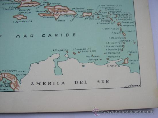Mapas contemporáneos: ATLAS UNIVERSAL DE LOS AÑOS 50,CONTIENE 78 MAPAS INDIVIDUALES, DE J.VÁZQUEZ-DIBUJO JUAN D.HOYOS. - Foto 20 - 34975090