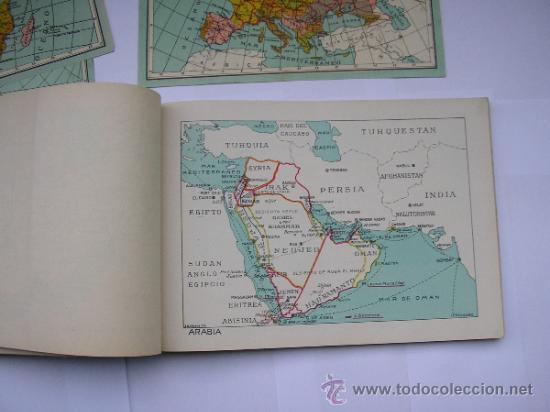 Mapas contemporáneos: ATLAS UNIVERSAL DE LOS AÑOS 50,CONTIENE 78 MAPAS INDIVIDUALES, DE J.VÁZQUEZ-DIBUJO JUAN D.HOYOS. - Foto 9 - 34975090